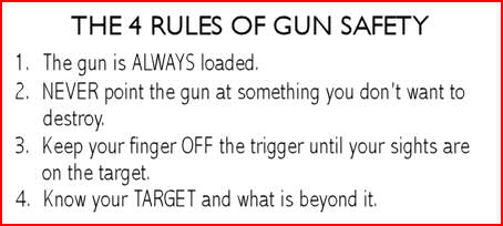 gun safety rules for beginners